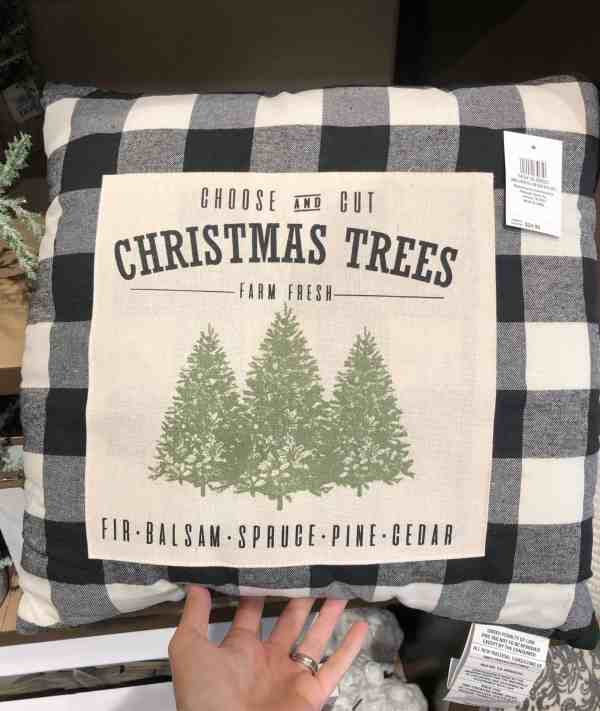 Buffalo Check Christmas pillow #plaid #farmhouse
