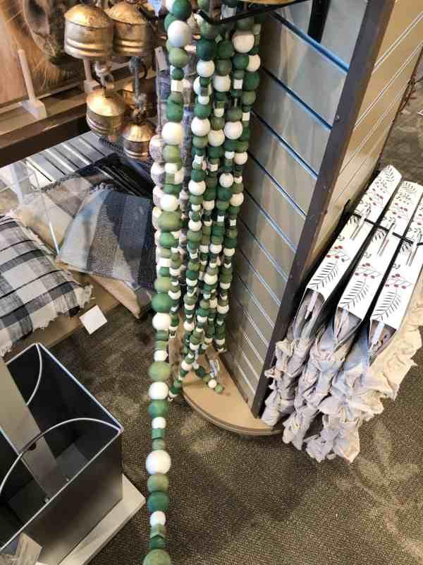 Christmas wood bead garland