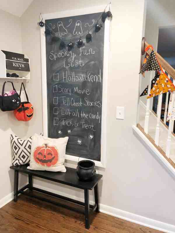 Halloween Chalkboard Decor