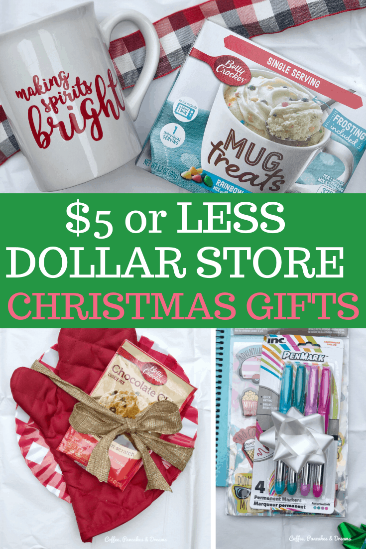 Christmas gift ideas from the Dollar Store #cheap #budget #diygifts