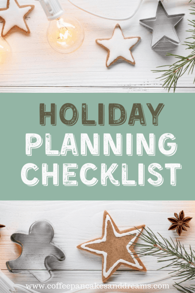 Christmas Planning Checklist #holiday #organization #mom