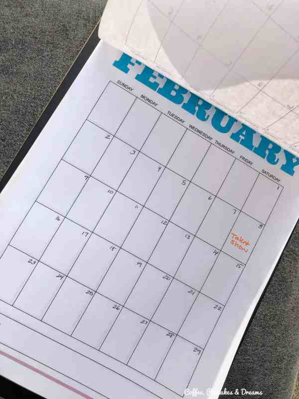 Blank Monthly Calendar Pages Printable #download #2020 #clipboardcalendar