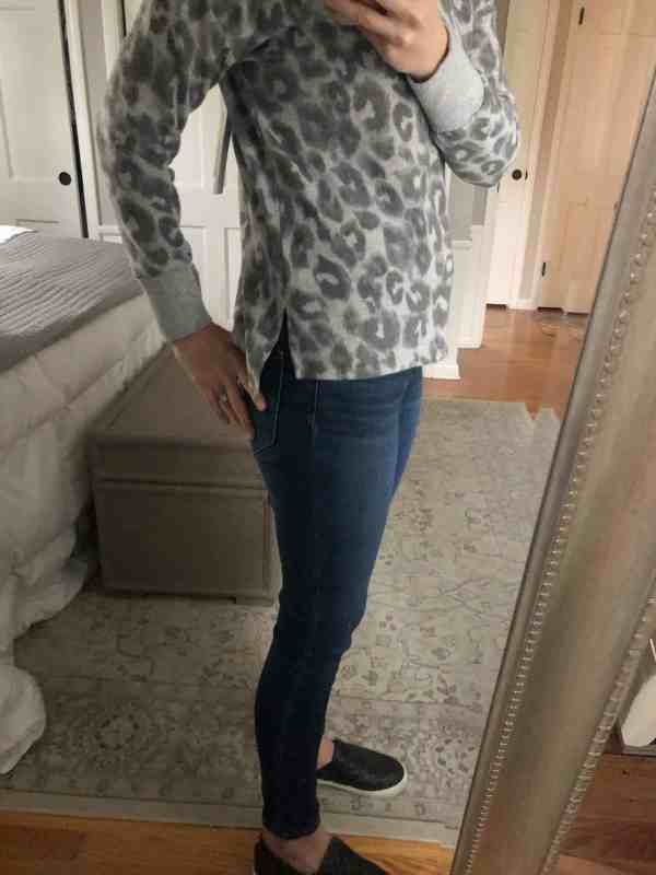 Gray Leopard Print Sweater from Stitch Fix Winter 2019