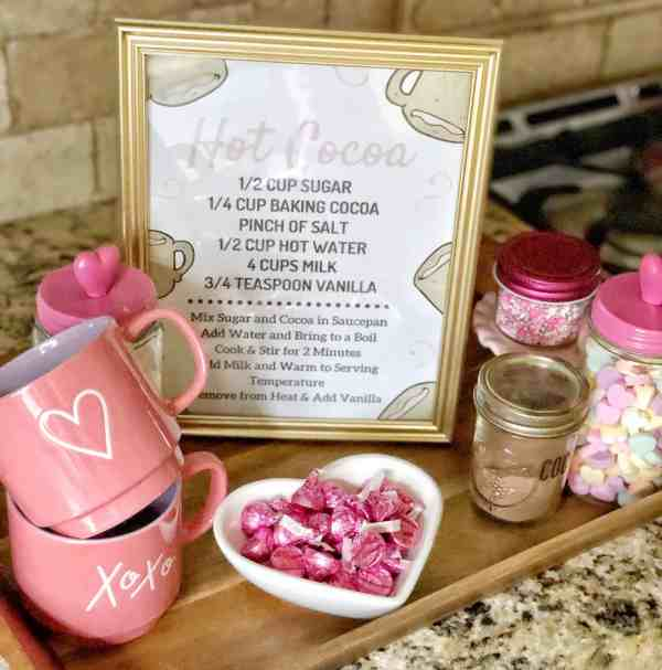 Valentine's Day Hot Chocolate Bar #decor #hotcocoa #printable #cute