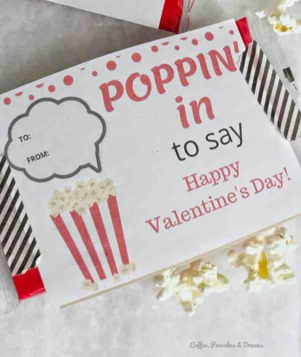 popcorn themed valentine cards