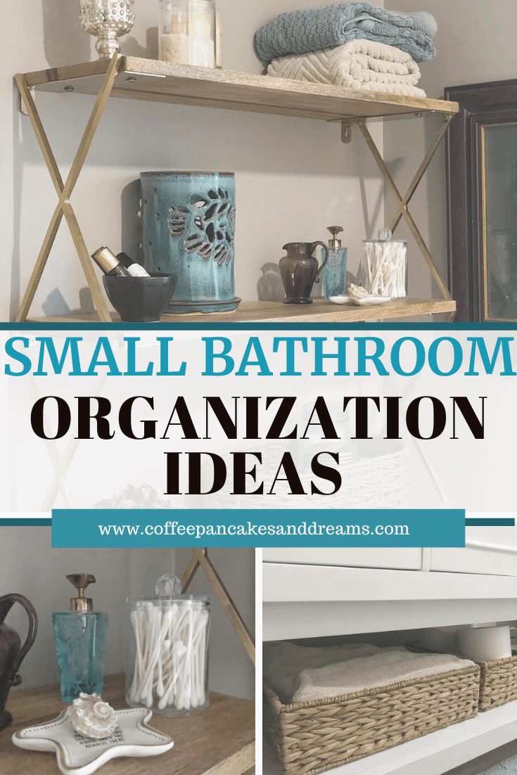 How to organize a small bathroom #storage #shelves #organizationideas