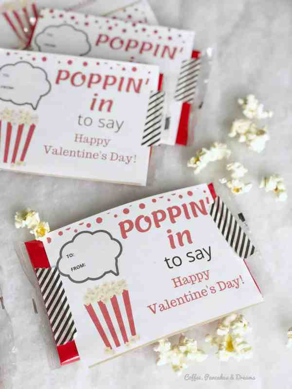 Popcorn Valentine Cards Printable