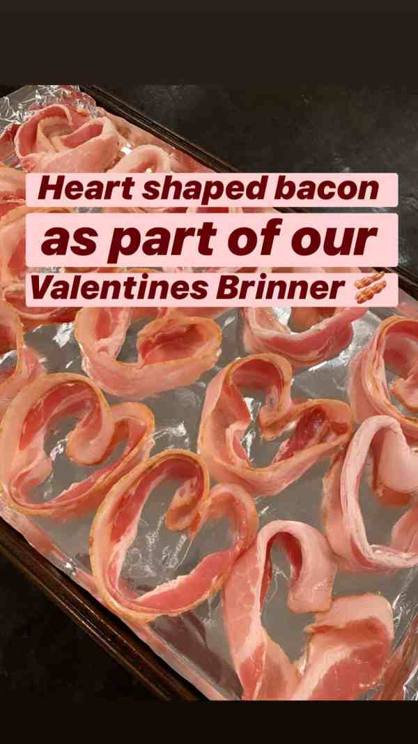 Make heart shaped bacon for Valentine's Day