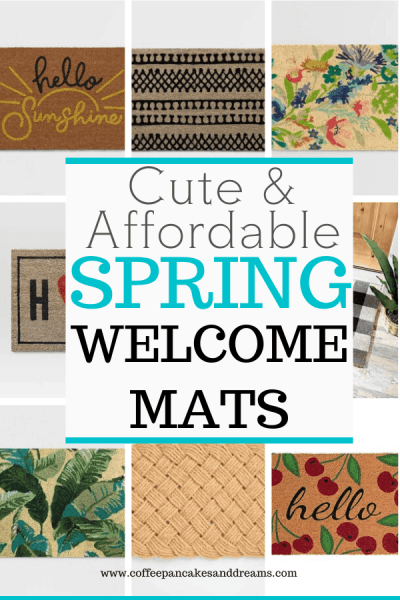 12 Cute Doormats for Your Front Door #welcomemat #spring #inexpensive