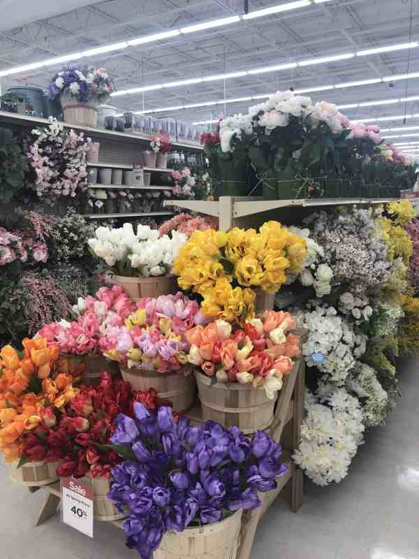 Spring Faux Flowers at Michaels