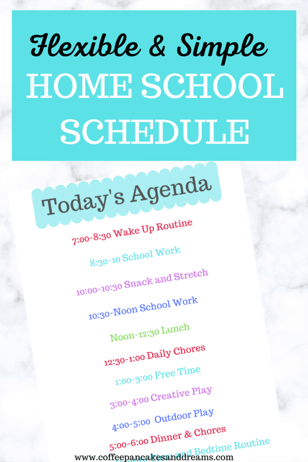 How to create a simple home school schedule