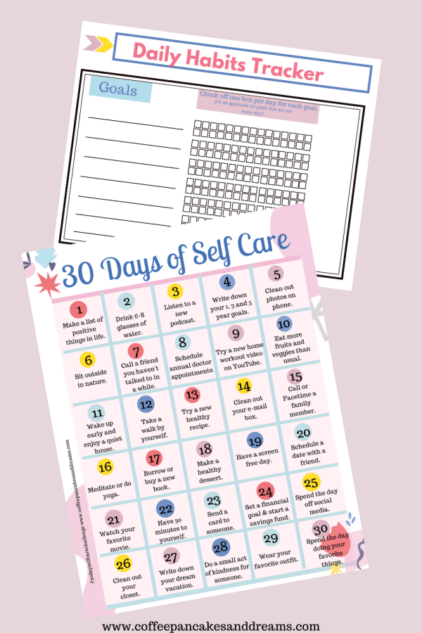 30 Day Self Care Calendar of Ideas #selfcarechallenge #selfcareideas #quarantineideas