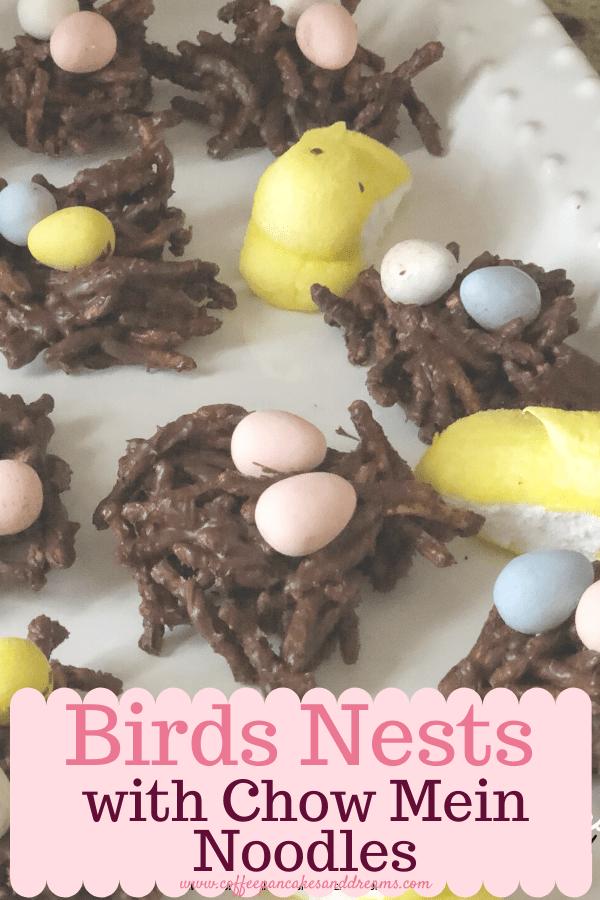 Bird Nest Recipe for Easter #chocolate #nobake #chowmein