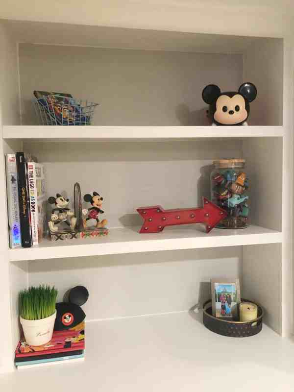 Disney themed shelf inspiration