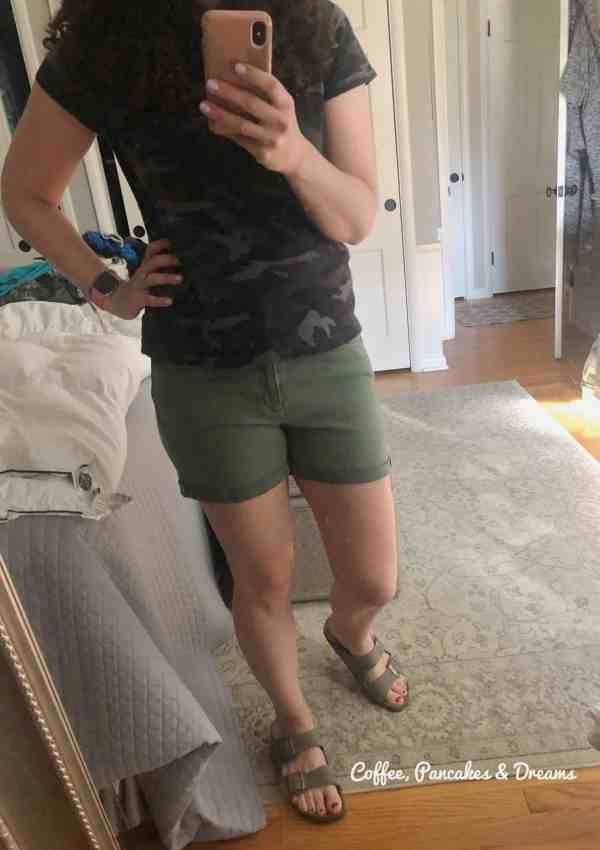 Women's shorts at Target #green #momstyle