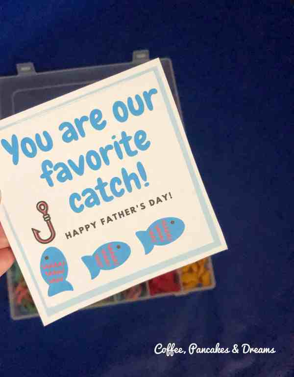 Father's Day You are our Favorite Catch Printable Gift Tag