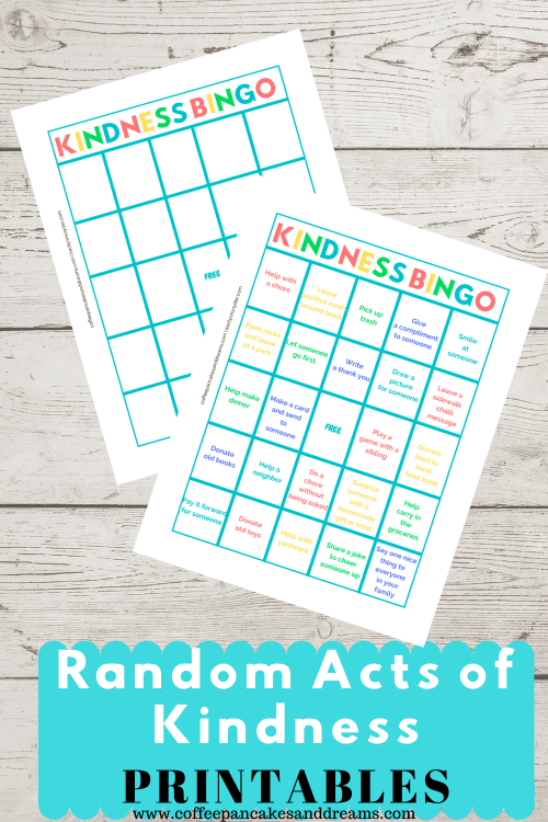Random Acts of Kindness Printable Cards #kids #teens #actsofservice