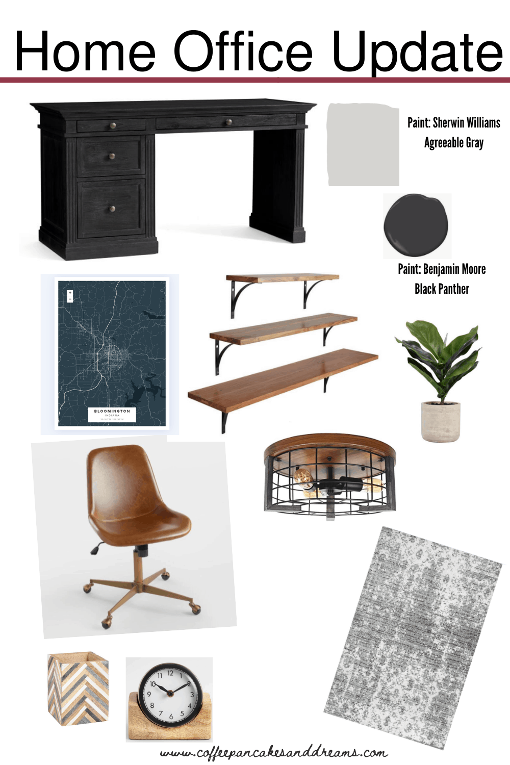 Small Home Office Makeover #decor #inexpensive
