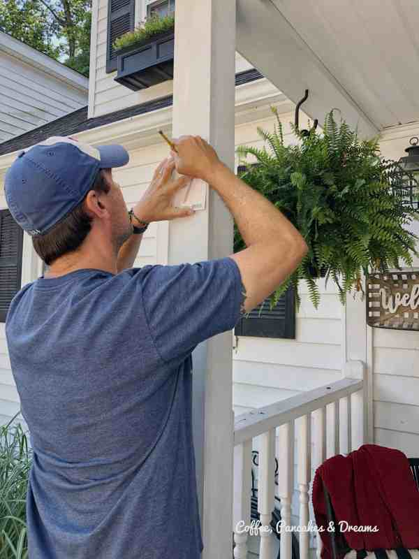 how to install address numbers #curbappeal #diyhome
