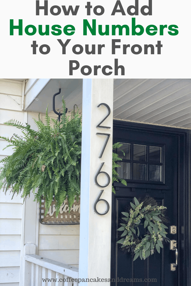 Installing House Numbers to Your Porch