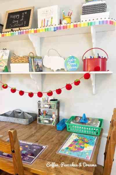how to decorate a homeschool room #decorinspiration #decoratingideas #inexpensive