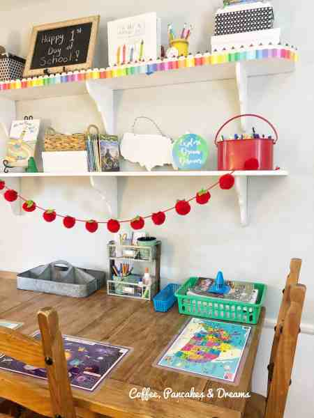 Home School Set Up for a Small Space #budget #virtuallearning #smallspaces #diy
