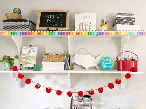 Create a homeschool room on a budget #diy #inexpensive #cute #fun
