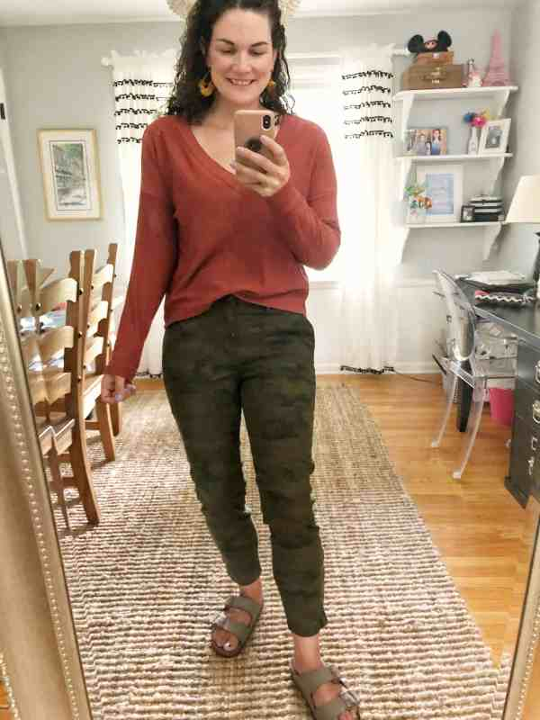 Fall Outfits from Evereve #tops #camo #pants #fallstyle