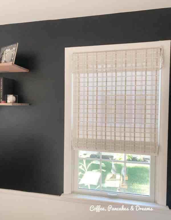 Budget Home Office Makeover Window Blinds