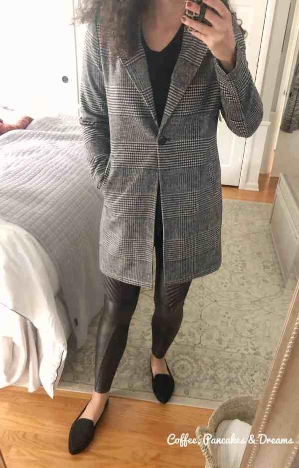 Matty M Nolan Plaid Coat #evereve #fallcoats #trendsend