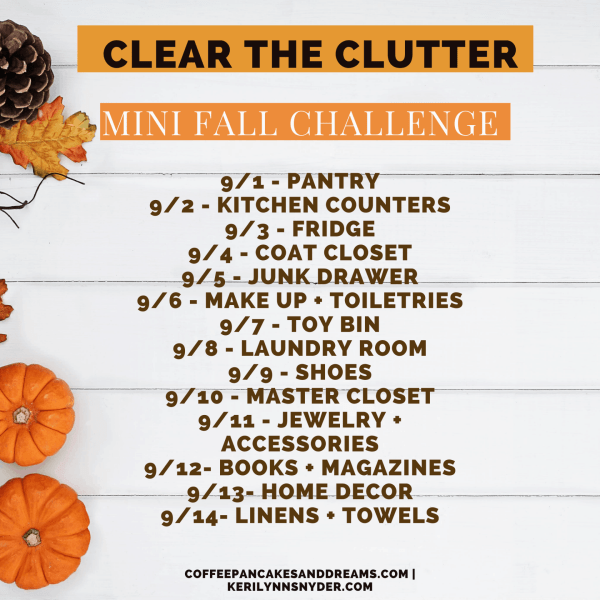 Two Week Declutter Challenge #organization #cleartheclutter #clutterfree