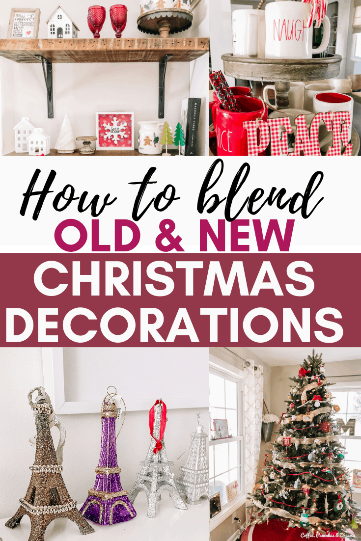 How to Mix Old and New Christmas Decorations #holiday #vintage #sentimental #christmasornaments