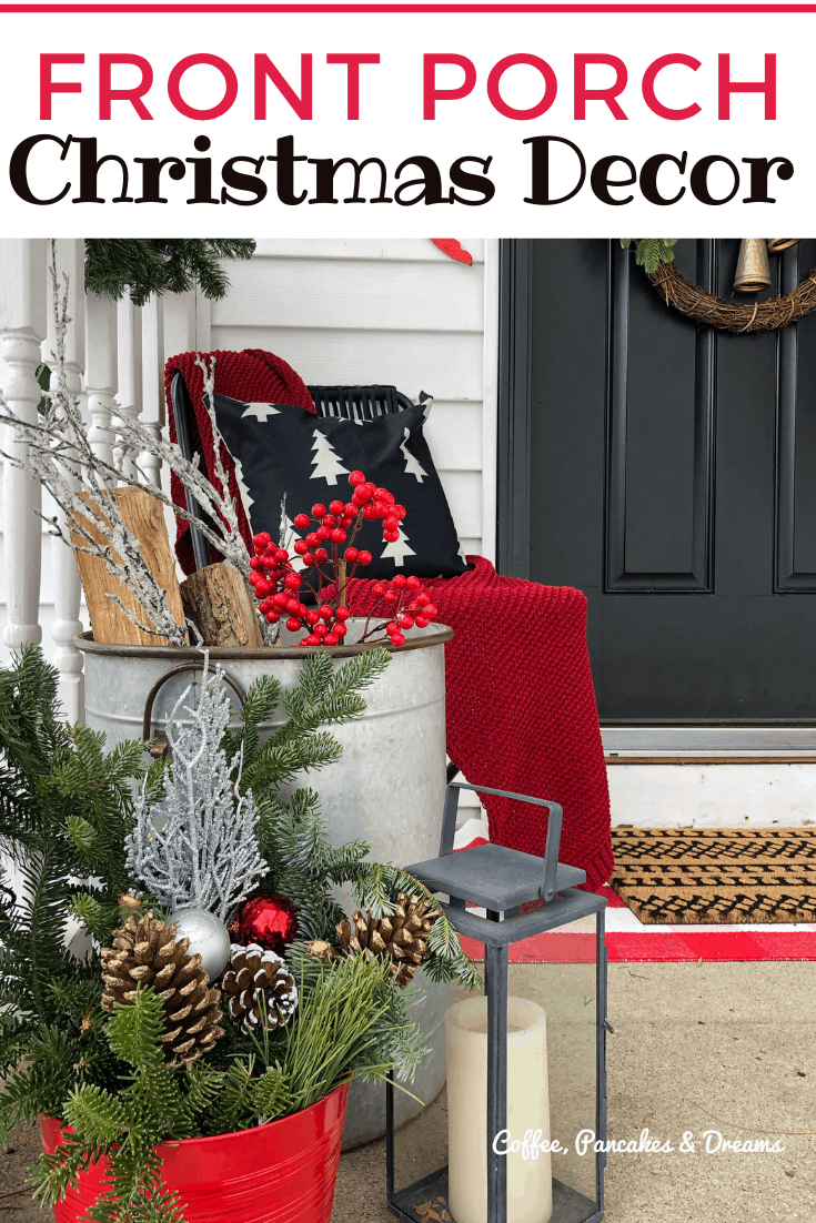 Small Front Porch Christmas Decor Inspiration #budget #diy #farmhouse