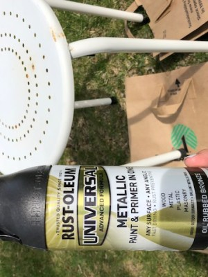 small front porch spray paint table