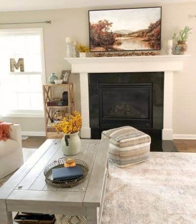 simple fall family room decorations