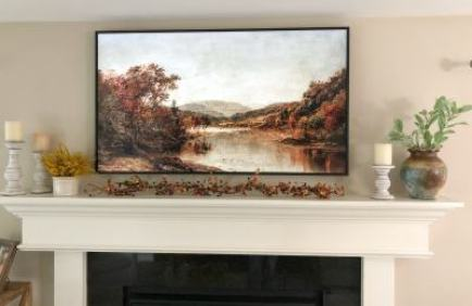 Simple Fall Fireplace Mantel Decorations