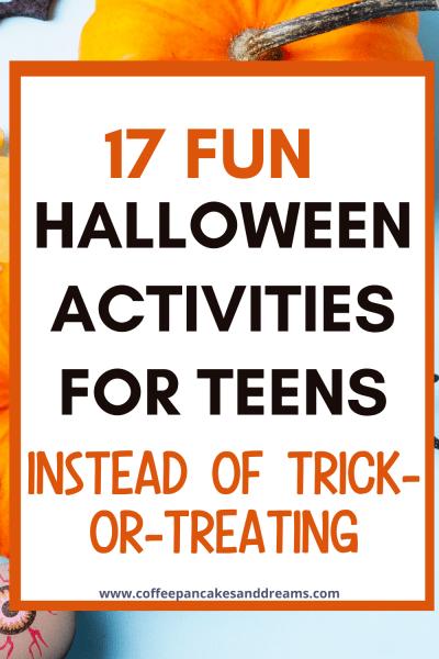 Halloween Activities for Teenagers #halloweenparty #halloweenideas #teenagers #kids