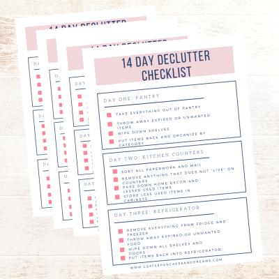 14 Day Declutter Checklist