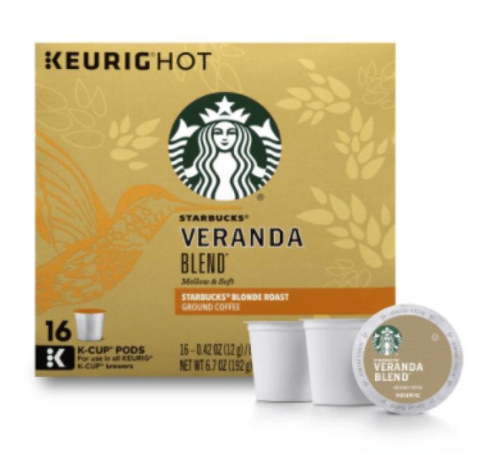 Light Roast K-cups-Starbucks Veranda Blend Blonde Light Roast K-Cup Pods-CS