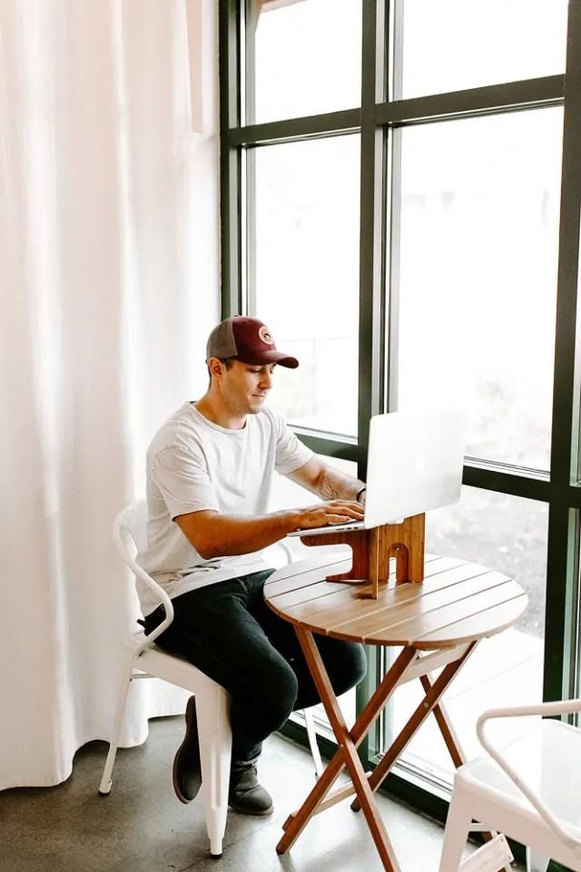 Man Using Coffee Shop Hero