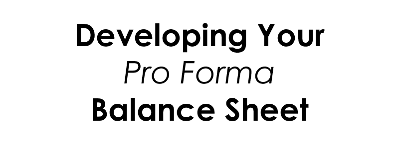 Your Pro Forma Balance Sheet for Coffee Shops