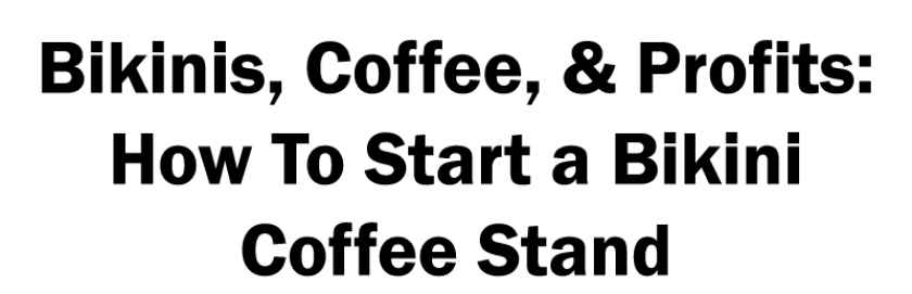 how to start a bikini barista coffee stand
