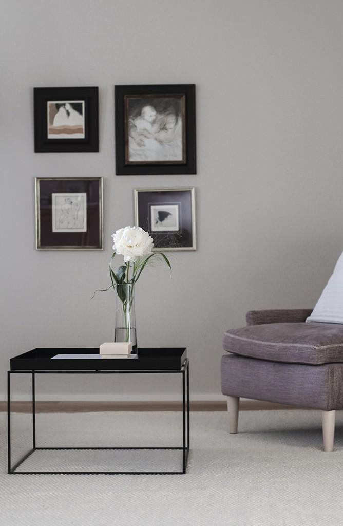 Olohuoneen uusi Linie Design Asko-villamatto luonnonvalkoinen Coffee Table Diary
