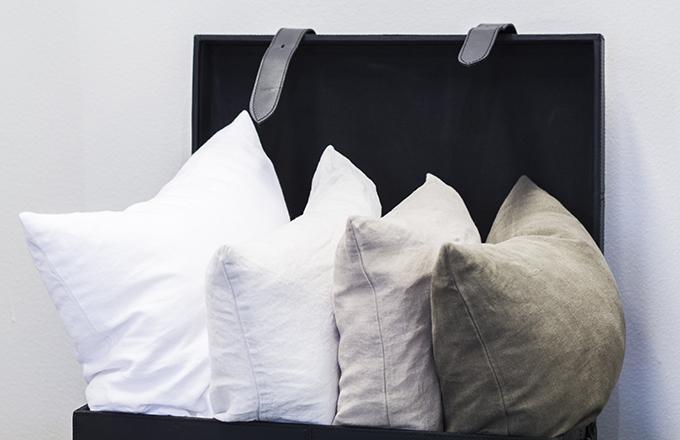 Balmuir linen pillow cases showroom Helsinki Lauttasaari