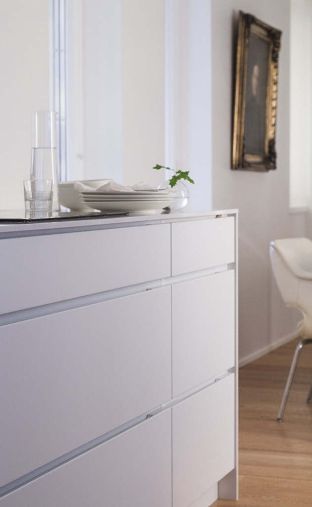 id kuva Kitchen Kvik Mano, walls Farrow & Ball Strong White