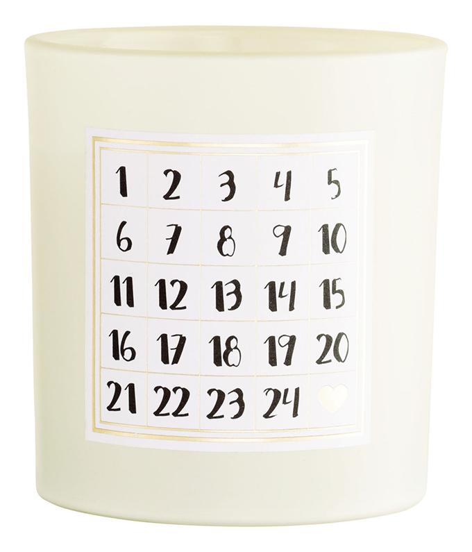 idkuva minimalistinen joulukalenteri