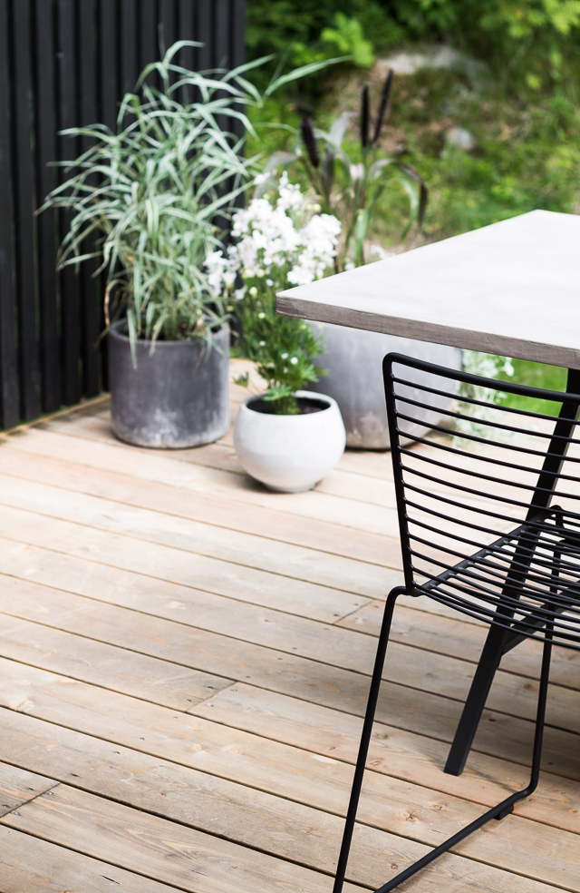 Modernit ruukkuistutukset terassi Coffee Table Diary