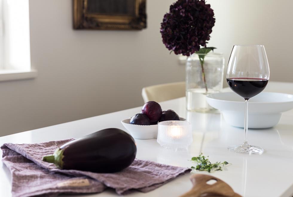 Syyskattaus Balmuir linen aubergine melange vaaka-1