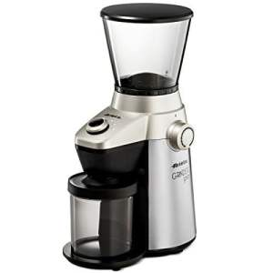 Ariete-Delonghi Conical Burr Electric Coffee Grinder - Professional Heavy Duty Stainless Steel