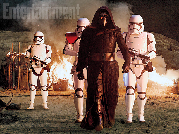 Kylo Ren and First Order Troopers